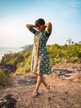 Load image into Gallery viewer, Askewed Block Printed All Season Pocket Dress/ Kurta