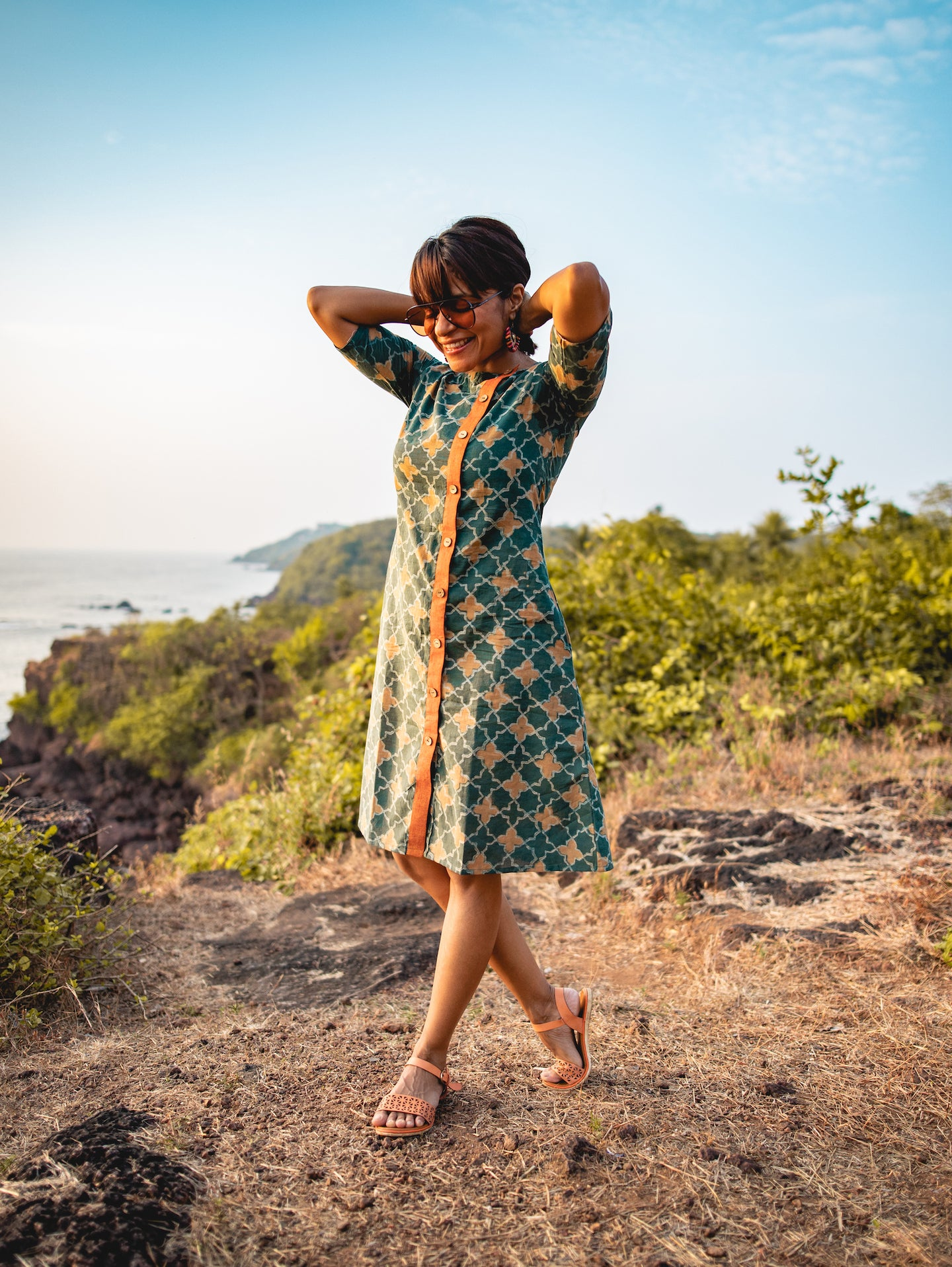 Askewed Block Printed All Season Pocket Dress/ Kurta