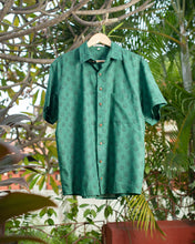 Load image into Gallery viewer, Ethnic Green Cotton Shirt