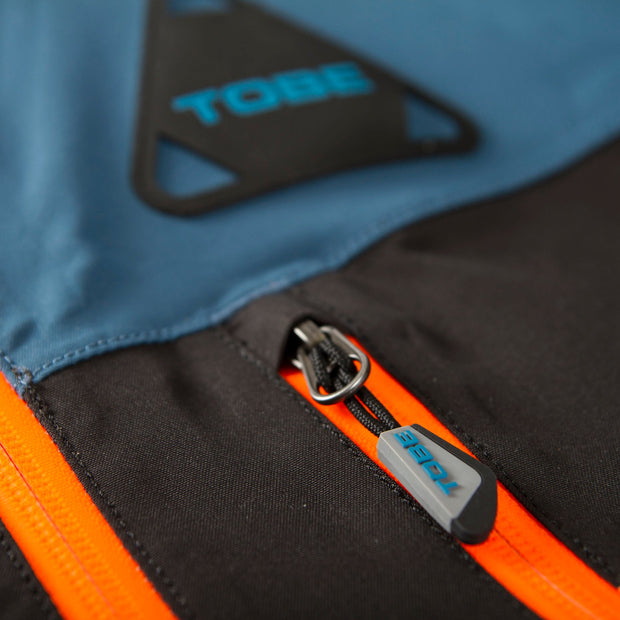 TOBE Tiro Mono Suit, Legion Blue - zip pocket detail 1