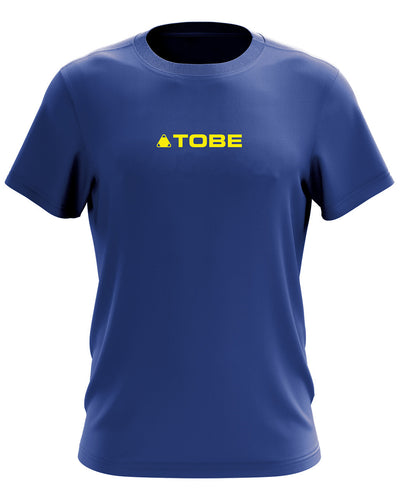 Base Tee, Blue/Yellow