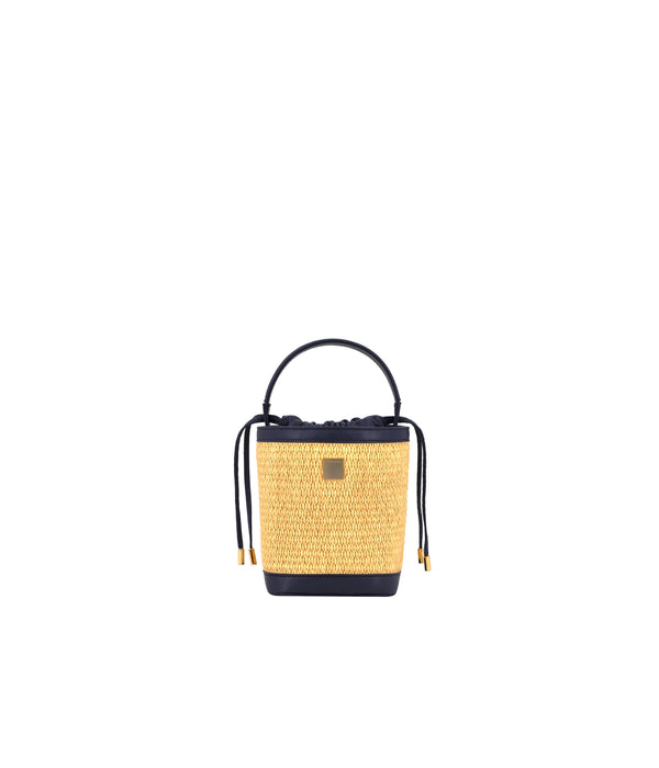 PEGGY | Bucket Mini Raffia