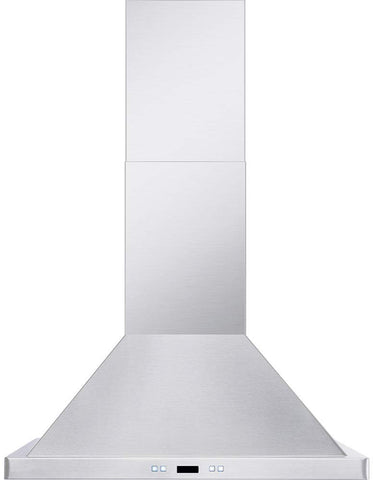 "DKB 30"" Inch Wall Mounted Range Hood Brushed Stainless Steel With LED Lights 600 CFM"
