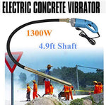 Concrete Vibrator, 3/4HP 800W Electric Hand Held Power Concrete Vibrator Construction Vibrator Cement Bubble Remover +1.2M Hose (US Stock)