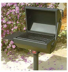 Pilot Rock Steel Covered BBQ Grill - 19in. x 22in. Model Number EC-26/S B2