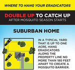 SPARTAN MOSQUITO ERADICATOR - Best Whole Yard Outdoor Killer Barrier Solution; More Effective Than ShortTerm Insect Repellent Trap Mosquito Free Backyard Garden Patio (Refresh Pack - 2 Tubes)