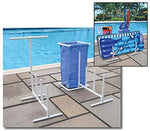 Raft, Float & Towel Caddy with Hamper for Swimming Pool