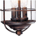 "Casa Mirada Industrial Rustic Outdoor Light Fixture Bronze 16 1/4"" Clear Seedy Glass Lantern for Exterior House Porch - Franklin Iron Works"