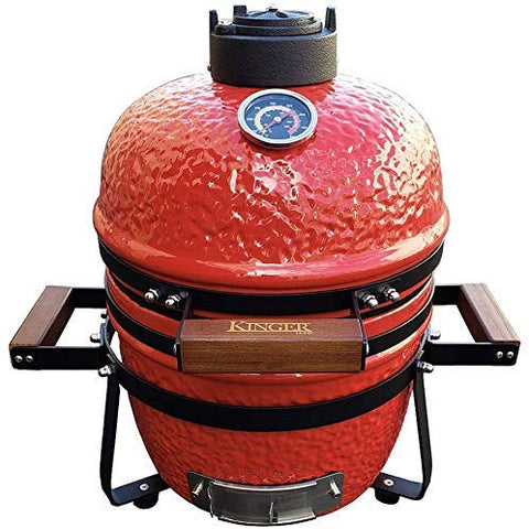 Kinger Home Kamado Grill 13 Inch Charcoal Wood Ceramic Grill, Bo Grill