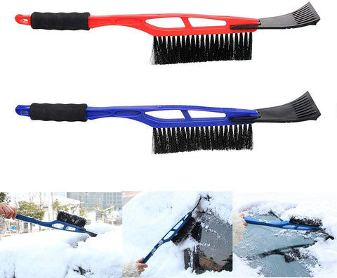 1pc 2 in 1 Ice Scraper Snow Shovel Brush for Auto Car Windshield Front Hood With Handle Ice Remove Clean Tool for Winter