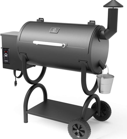 ZGRILLS Wood Pellet Grill Smoker Outdoor BBQ Grills and Smoker,550 Square Inches,Black