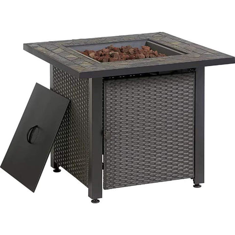 Endless Summer 30-in W 50000-BTU Grey Tabletop Steel Propane Gas Fire Table