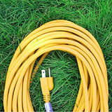 EPICORD 14/3 Vinyl Outdoor long Extension Cord 3 prong Heavy Duty for Indoor and Outdoor (25 Feet Yellow)