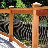 29.5 in. x 1 in. x .1875 in. Black Aluminum Silhouette Balusters (60 pack), Wood and Composite Deck Railing Compatible, Semigloss Finish, Wrought Iron Look