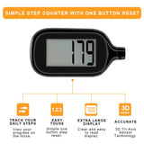 4 Pack Simple Step Counter Walking 3D Pedometer