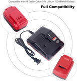 Lasica PCXMVC Multi-Chemistry Charger for 18-Volt Porter Cable NiCd NiMh & Lithium-Ion Cordless Power Tools Battery PC18B-2 PC18BLX PC18BLEX PCC489N Porter Cable 18V Battery Charger PCMVC