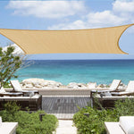 Shade&Beyond Sun Canopy Shade Sail 12'x16' Rectangle UV Block for Patio Deck Yard and Outdoor Activities Sand
