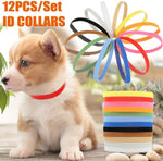 Whelping Collars -Puppy ID Bands Newborn Puppy Collars for Litter, Pack of 12 (Assorted Colors), Adjustable & Reusable by MEKBOK