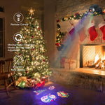 Christmas Projector Lights Outdoor Halloween Projector Lights, 2-in-1 Moving Patterns with Ocean Wave LED Projector Lights RF Remote Waterproof Outdoor Indoor Decorative Light for Yard Holiday Party