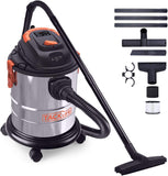 Wet Dry Vacuum, TACKLIFE 5 Gallon 5.5 Peak HP Shop Vacuum, 1000W Pure Copper Motor, Stainless Steel Wet/Dry/Blow 3 in 1 Multifunction, 4-Layer Filtration System,Portable Shop Vac with Attachments