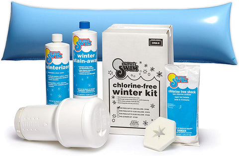In The Swim Deluxe Pool Winterizing and Closing Chemical Kit for Pools up to 15,000 Gallons and 4 x 8 Foot Air Pillow