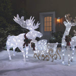 NOMA Pre-Lit LED Light Up Moose | Christmas Holiday Lawn Decoration
