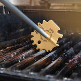 The Sage Owl Barbecue Grill Scraper Tool with Handle - for Hot Grills - S4480 and Handle, Individually Packaged, Universal Shape, Stainless Steel and Aluminum
