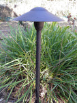 Low Voltage Landscape Mushroom Light in Black Finish