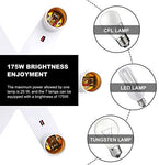 8T8 Adjustable Motion Sensor Socket Adapter Converter Infrared Motion Detector Socket Lamp Holder, E26 Light Socket Adapter Base with 360 Degree Bendable for Storage Room/Basement (Manual Sensor_2)