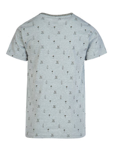 JANIS JR T-SHIRT - Aqua Grey