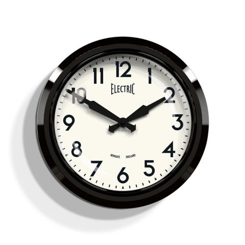 Diner Electric Clock - Black