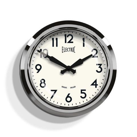 Diner Electric Clock - Chrome