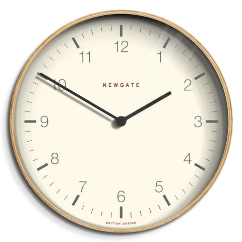Baldwin Clock - Pale Wood Finish