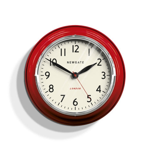 Kitchen Classic Clock - Biscuit Box Red