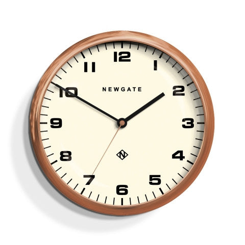 Barton Clock - Radial Copper White