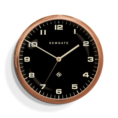 Barton Clock - Radial Copper Black