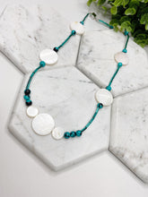 Load image into Gallery viewer, Turquoise Beads & Natural Shells Necklace