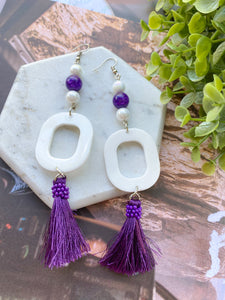 """Violet"" Earrings"