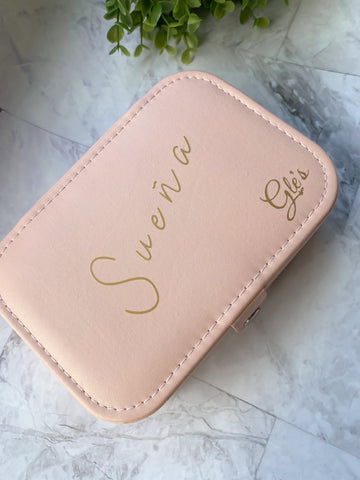 Sueña Light Pink Travel Size Jewelry Box
