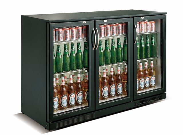Image of   Backbar - Barkøleskab - Sort - 3 låger - 298 liter