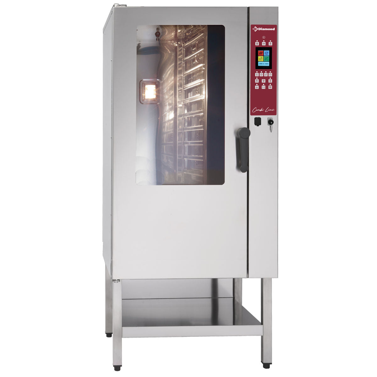 Combisteamer - Konvektion og damp 15 GN 1/1 touch screen / auto clean