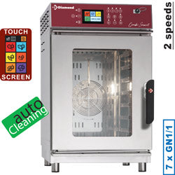 Combisteamer - Konvektion og damp 7 GN 1/1 touch screen / auto clean