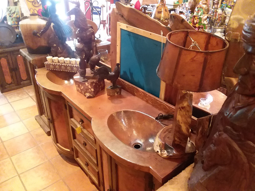 Copper Top Furniture Vanity