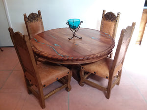 Wood Table Set with Chairs