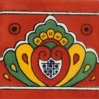 Talavera Deco Concha Tc Red BG