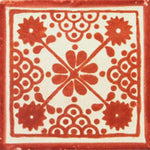 Talavera Deco Damask Tc Red