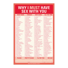 Why I Must Have Sex with You! Pad - NEW!!