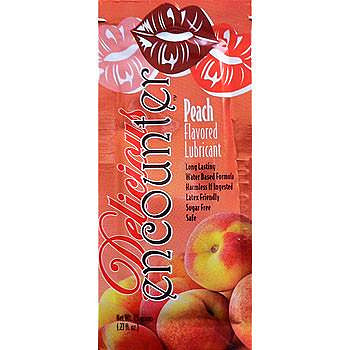 Encounter Delicious | Peach, Lubricants - LuckyBloke.com | Global Condom Experts