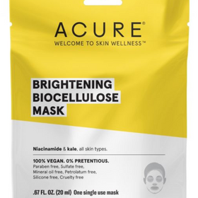 ACURE  |  Brightening: Biocellulose Mask x1 - NEW!!
