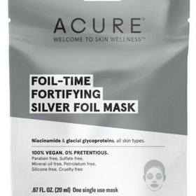 ACURE  |  Fortifying SILVER Foil Mask x1 - NEW!!